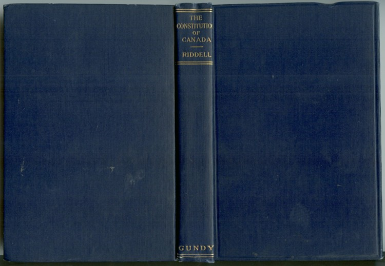 Image for The Constitution of Canada in Its History and Practical Working