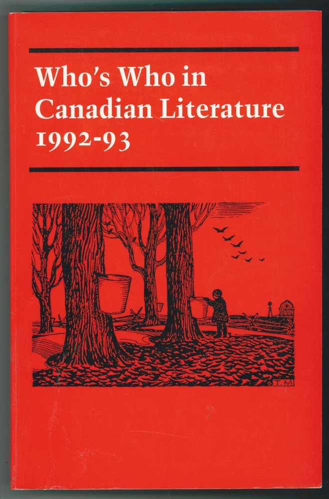 Image for Who's Who in Canadian Literature, 1992-93