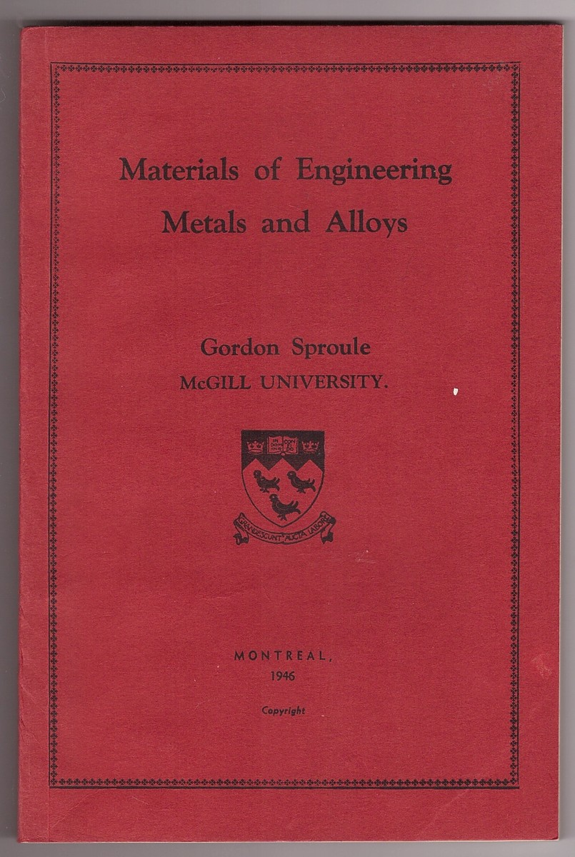 Image for Materials of Engineering; Metals and Alloys