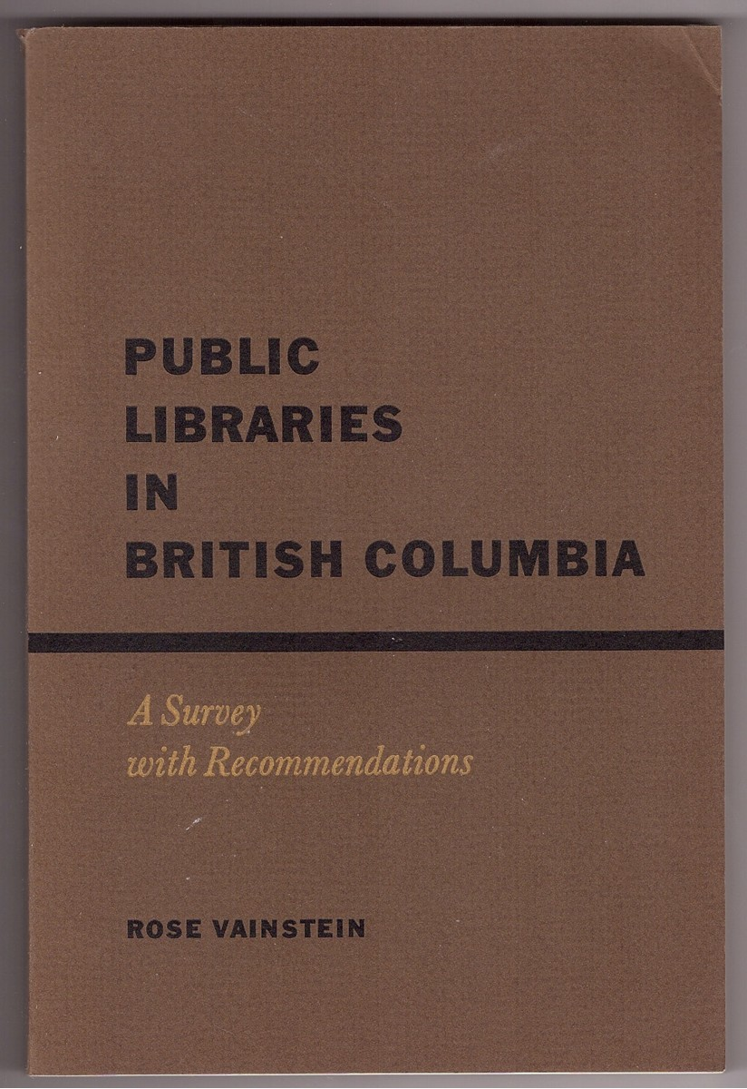 Image for Public libraries in British Columbia   a survey with recommendations