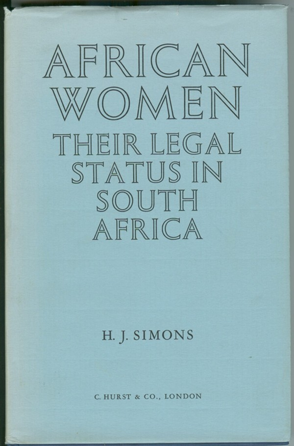 Image for African Women  Their Legal Status in South Africa