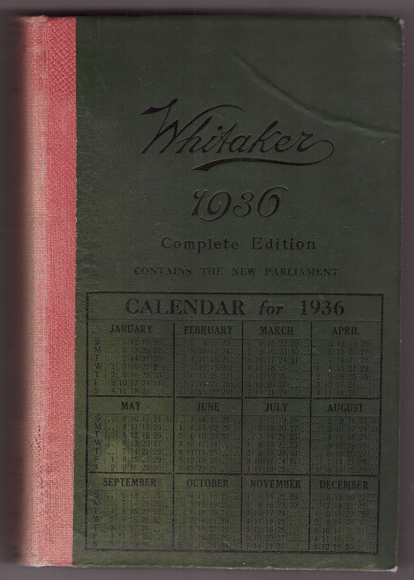 Image for WHITAKER'S ALMANACK 1936