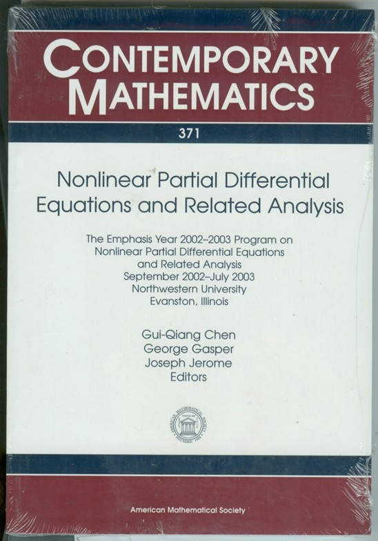 Image for Nonlinear Partial Differential Equations And Related Analysis  The Emphasis Year 2002-2003 Program On Nonlinear Partial Differential Equations And Related ... Universi