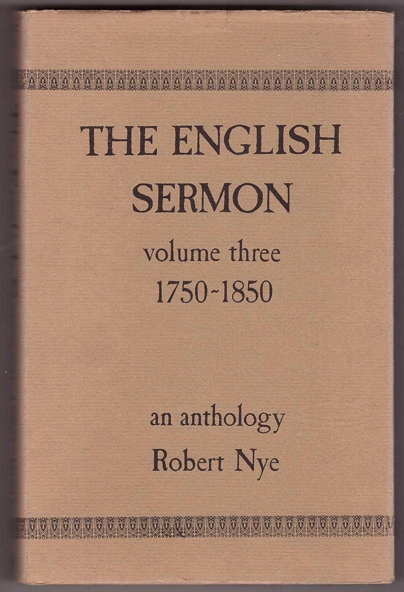 Image for The English Sermon, Volume 3  1750-1850; an anthology