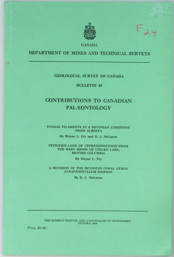 Image for Geological Survey of Canada Bulletin 48   Contributions to Canadian Palaeontology