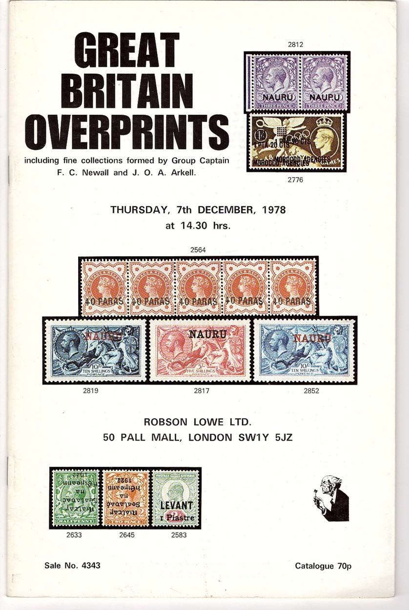 Image for GREAT BRITAIN OVERPRINTS