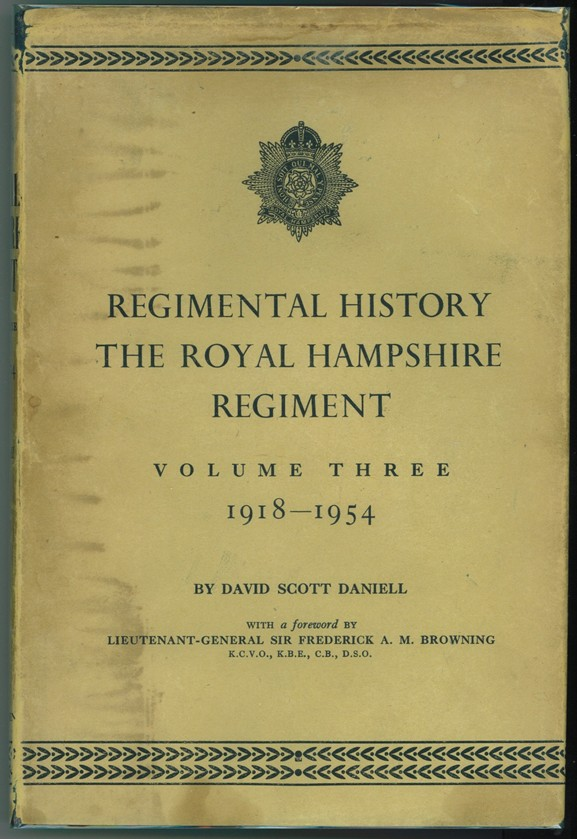 Image for Regimental History  The Royal Hampshire Regiment. Vol. 3: 1918-1954
