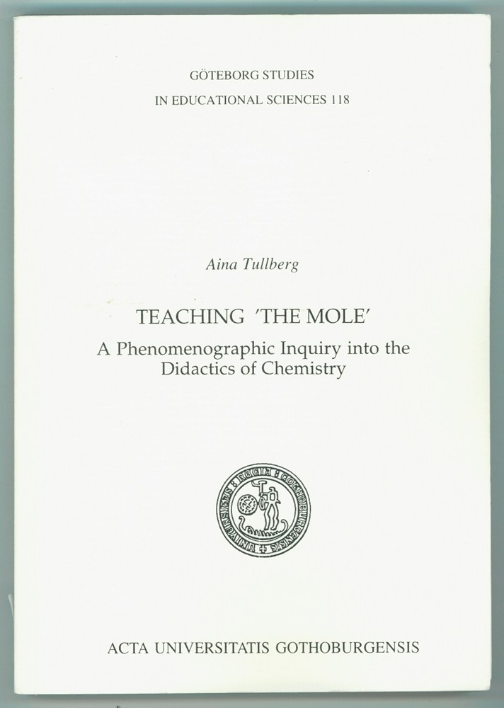 "Image for Teaching ""the mole""  A phenomenographic inquiry into the didactics of chemistry"