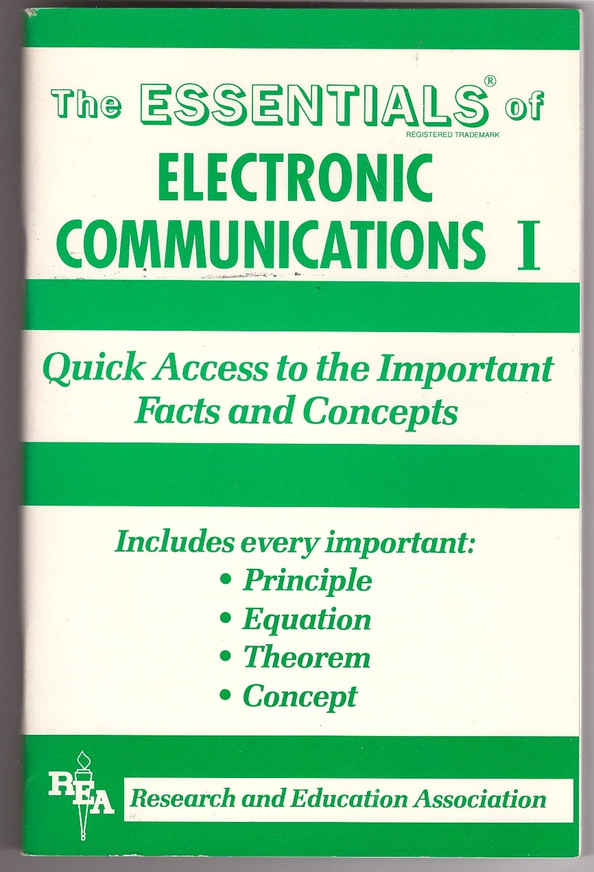 Image for The Essentials of Electronic Communications I   (v. 1)