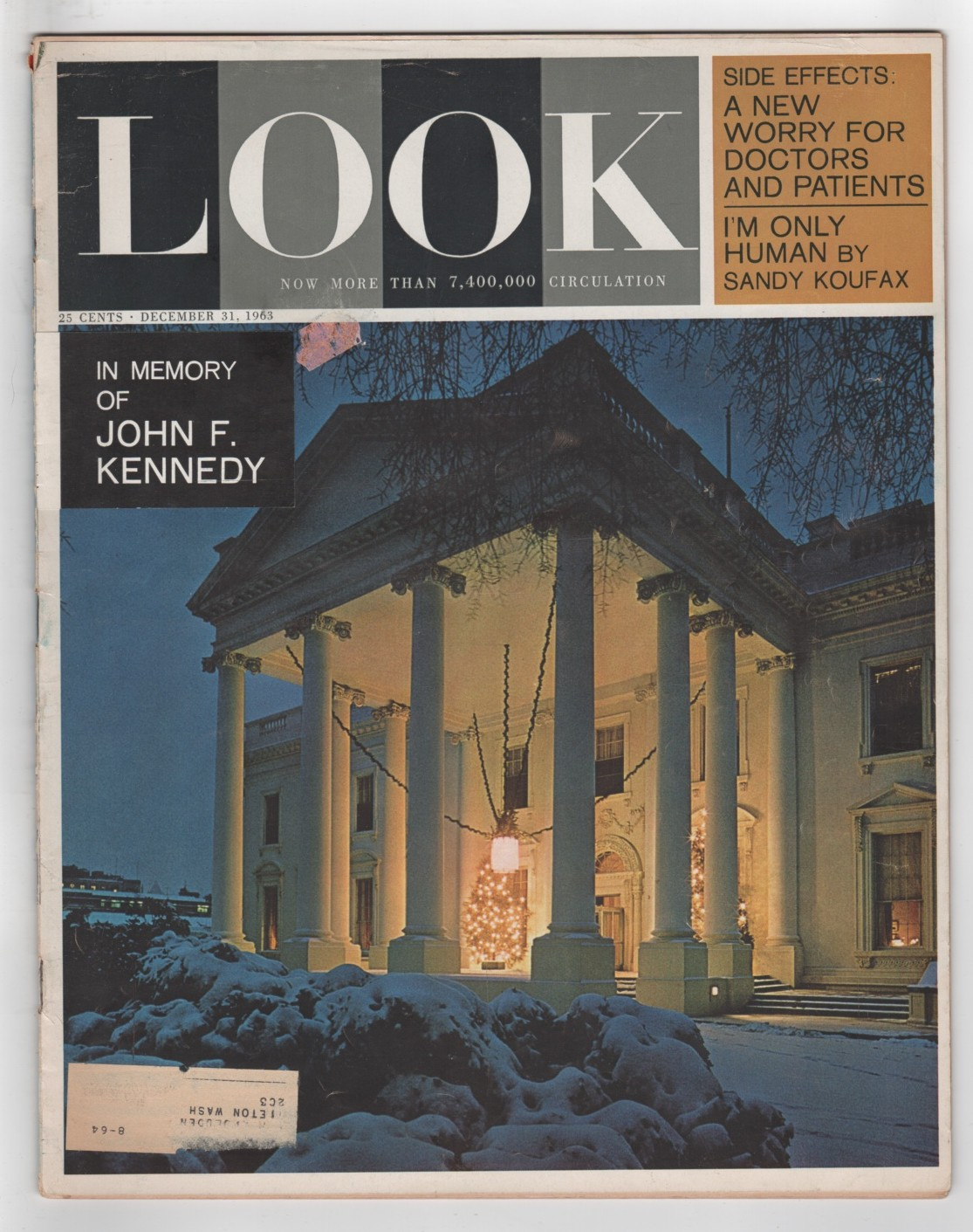 Image for Look Magazine  December 31, 1963 In Memory of John F. Kennedy