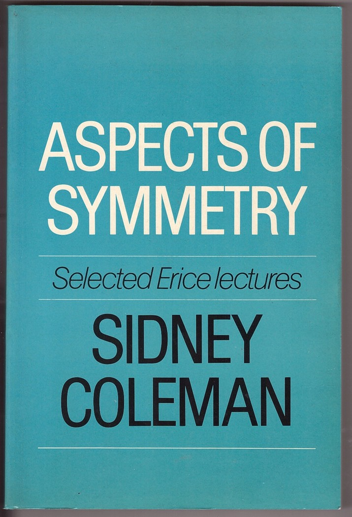 Image for Aspects of Symmetry  Selected Erice Lectures