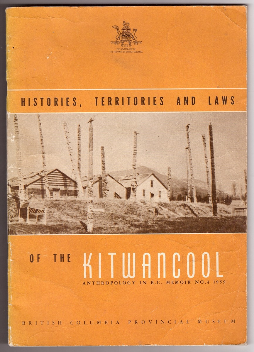 Image for Histories, Territories and Laws of the Kitwancool