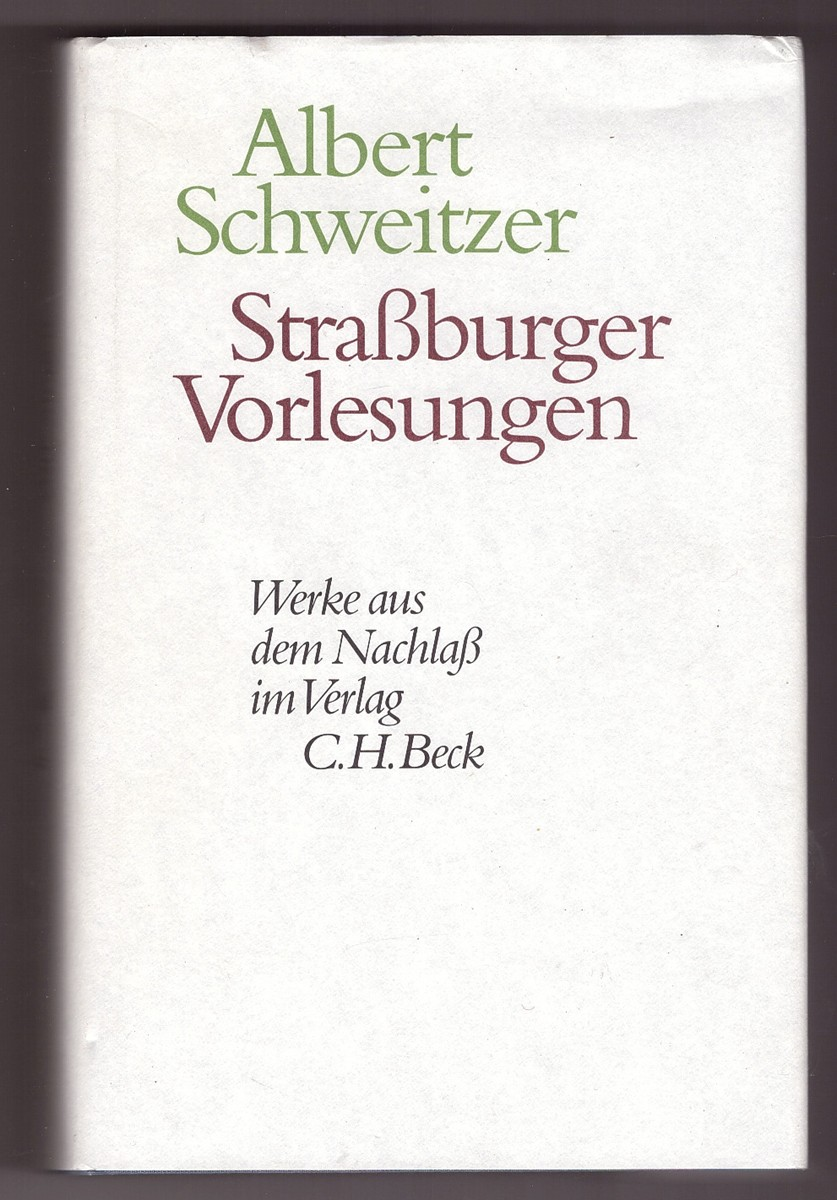 Image for Strassburger Vorlesungen   (German Edition)