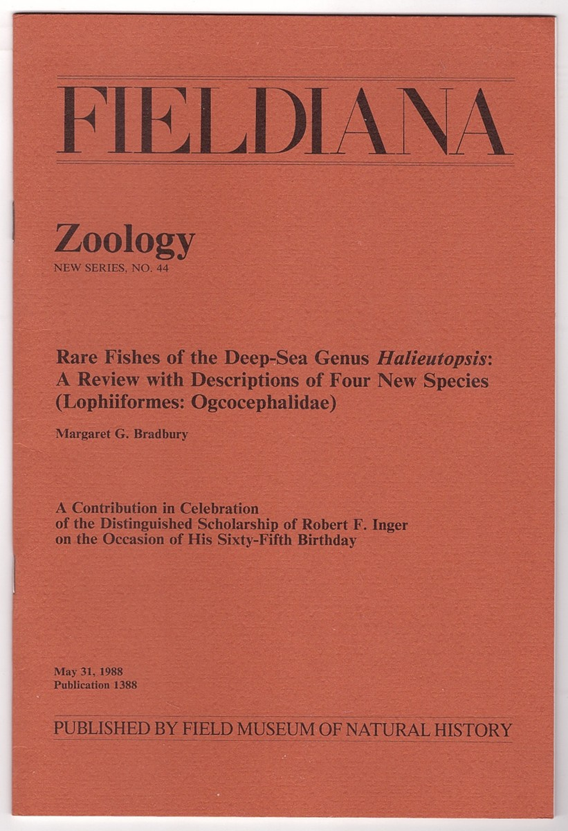 Image for Rare fishes of the deep-sea genus Halieutopsis; A Review with Descriptions of Four New Species (Lophiiformes: Ogcocephalidae)  A Contribution in Celebration of the Distinguished Scholarship of Robert F. Inger on the Occasion of his sixty-fifth birthday