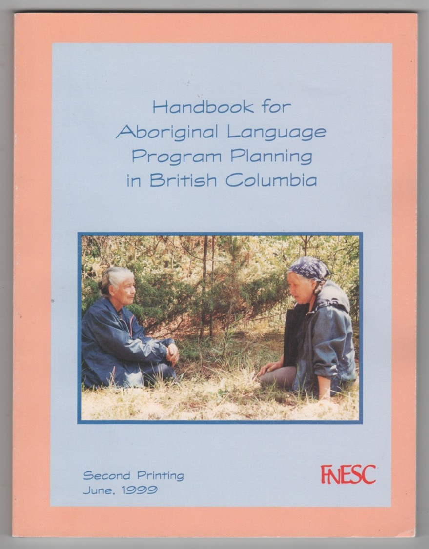 Image for Handbook for Aboriginal Language Program Planning in British Columbia
