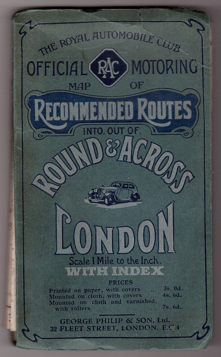 Image for RAC Official Map of Recommended Routes Round and Across London Cloth Edition