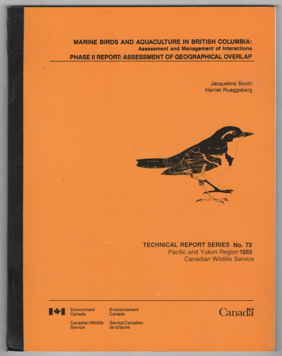 Image for Marine Birds And Aquaculture In British Columbia: Assessment and Management of Interactions Phase II Report: Assessment Of Geographical Overlap