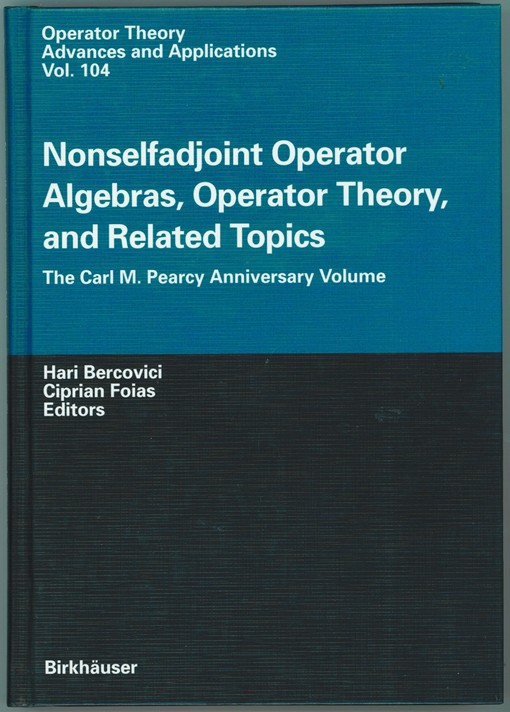 Image for NONSELFADJOINT OPERATOR ALGEBRAS, OPERATOR THEORY, AND RELATED TOPICS